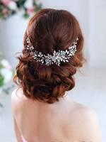 Simsly cristallo nuziale capelli vite argento accessori capelli sposa copricapo per sposa e damigelle