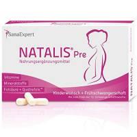 SanaExpert Natalis Pre, Integratore per il Concepimento e la Gravidanza con Acido Folico, Vitamine e Minerali, 30 Capsule