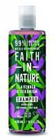 Faith in Nature - Shampoo Naturale al 100% Con Lavanda e Geranio Per tutti I Tipi di Capelli - Per Lavaggi Frequenti - Senza Parabeni - Vegano