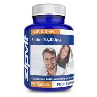 Biotina 10,000mcg | 360 Capsule | Massima Efficacia | Per Capelli in Salute | FORNITURA DI UN ANNO