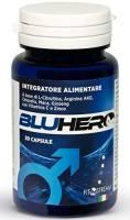 BluHero Originale by Fitostream Integratore Uomo, Pillole Naturali Per Supportare il Vigore, Effetto Tonico, 30 Capsule