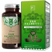 FS Serenoa Repens capelli e prostata [3000 mg] - Saw Palmetto 3000 mg estratto 20:1 con zinco | 120 capsule vegane | Integratore efficace per la prostata - Senza OGM e latticini