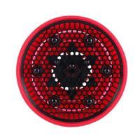 Retrattile Pieghevole del Silicone Parrucchiere Capelli Ricci Asciugacapelli Diffusore Silicone Asciugacapelli Diffusore Pieghevole La Casa o in Viaggio, Colore Rosso