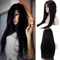 Full Lace Wig Human Hair Parrucca Donna Capelli Veri Brasiliani Gluless Respirante Lisci Parrucche Naturali Lunghi 100% Remy Virgin Hair 130% Densità, 55cm-220g