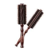 Kaiercat Coppia di spazzole rotonde e incurvate per capelli in setole di cinghiale (Diametro2Inch+1.6Inch)per capelli Lunghi e corti