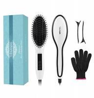 Spazzola per Capelli Trèsutopia Lepunzel Spazzola Lisciante Elettrica Hair Brush Stiratura raddrizzamento portatile riscaldamento più rapido, spegnimento automatico