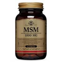 Solgar Oligo MSM Plus Integratore Alimentare a Base di Zolfo Utile per Pelle Unghie e Capelli - 60 Tavolette