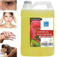 Olio de Ricino 100% Naturale 1000 ml - Occhiaie Capelli Secchi Ciglia Unghie Cuticole Viso Corpo - Made in France