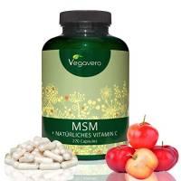 MSM con Vitamina C Naturale (estratta da Acerola) Vegavero | Minerale della Bellezza | Crescita Capelli - Unghie - Pelle - Disintossicazione - Antinfiammatorio naturale | Purezza certificata 99,9 % | Alta biodisponibilità | 270 capsule, 700 mg MSM + 50 mg Acerola