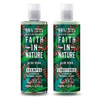 Faith in Nature aloe vera shampoo e balsamo, 400 ml