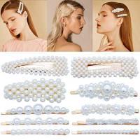 10 fermagli per capelli con perle finte, per donne e ragazze, eleganti forcine per capelli da sposa, accessori per capelli per festa di nozze