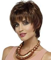 Real hair-Parrucca da donna, in capelli veri, Europa e Liu Qi-Parrucca corta, motivo