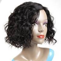 Morichy - Parrucca di veri capelli umani brasiliani ricci, densità: 100%, non trattati, senza pizzo, colore: nero naturale