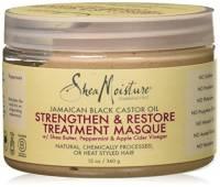 Shea Moisture - Jamaican Black Castor Oil, Maschera per capelli, azione nutriente, rinforzante e rigenerante, 340 g