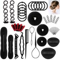 Accessori Per Capelli,25 Tipi set di acconciature Hair Styling Tool, Mix Accessori Set Gioielli per Capelli Donne Ragazze per DIY