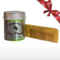Cera Capelli Uomo Naturale Opaca Professionale con Cheratina PeakStar 80ml | Hair Clay Styling Wax with Keratin | Pasta Modellante Capelli Lunga Durata | Tenuta Forte senza residui | Essenze Naturali