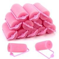 32 Pezzi Bigodini in Schiuma Spugna per donne e bambini Styling dei capelli fai-da-te per Capelli Flessibili Capelli Styling Bigodini Rullo di Spugna Bigodini per Capelli Styling (30 mm, rosa)