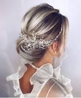 Deniferymakeup - Coroncina per acconciatura da sposa, a tema floreale, con cristalli, accessorio per capelli da sposa