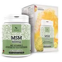 MSM 600mg di VITA1 • 365 capsule softgel (fornitura per 6 mesi) • con Vitamina C • Fatto in Germania
