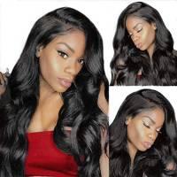 Parrucca umani naturale riccia lunghilace front wig human hair wigs capelli veri al 100% umani brasiliani vergini neri 24 inch/61cm