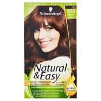 Schwarzkopf, Natural & Easy, Colorazione Permanente con Nutritive Oil Serum, 576 Castano Rosso Naturale 576