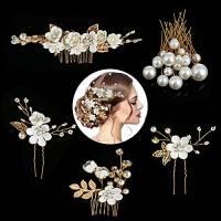 Taumie 22 Pezzi Fermagli per Capelli da Sposa, Accessori Acconciature Sposa con Strass Cristalli, Capelli Perle mollette di U, Matrimonio Nuziale Copricapo