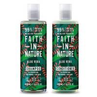 Faith in Nature aloe vera shampoo e balsamo, 400ml